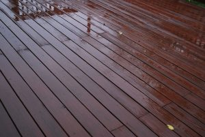 wooden decking covered with non skid paint