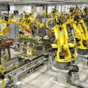 Powder coating in factory and robotics