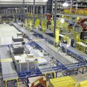 Powder coating in logistics centres