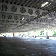 Powder coating in parking garages