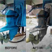 Removing antifouling paint with chemical stripping