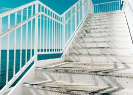 Stairs needing anti slip paint for metal surfaces
