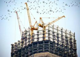 Steel construction site