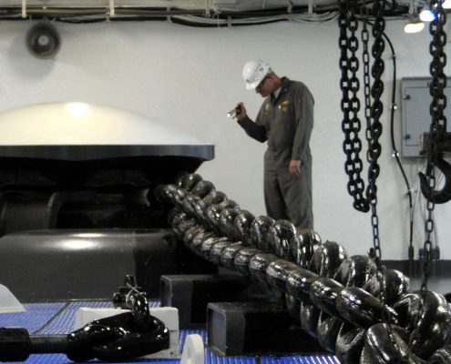 Coating inspection NZ on anchor
