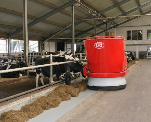 Chemical resistant coating on Dairy farm floor