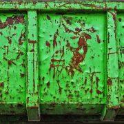 anti rust coating in gereen on a container