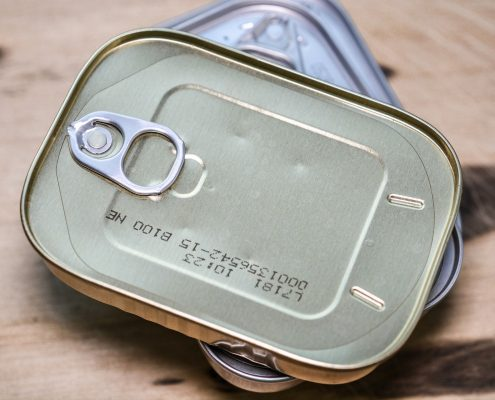 packaging coating on sardine tins